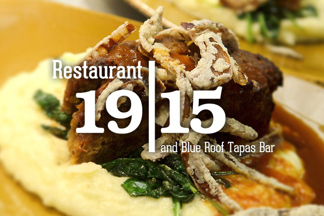 a delicious meal, plated at Restaurant 1915