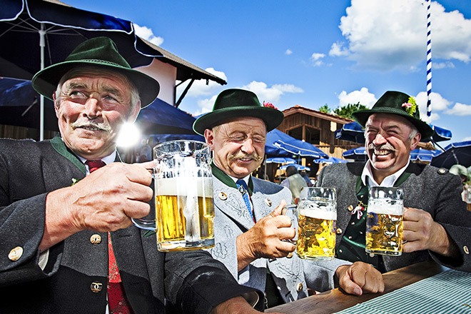 Bavarians at Oktoberfest
