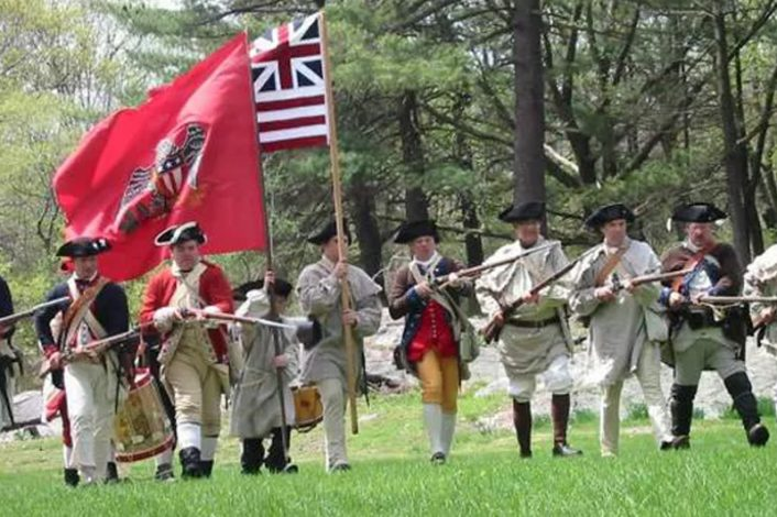 War reenactment on Constitution Island