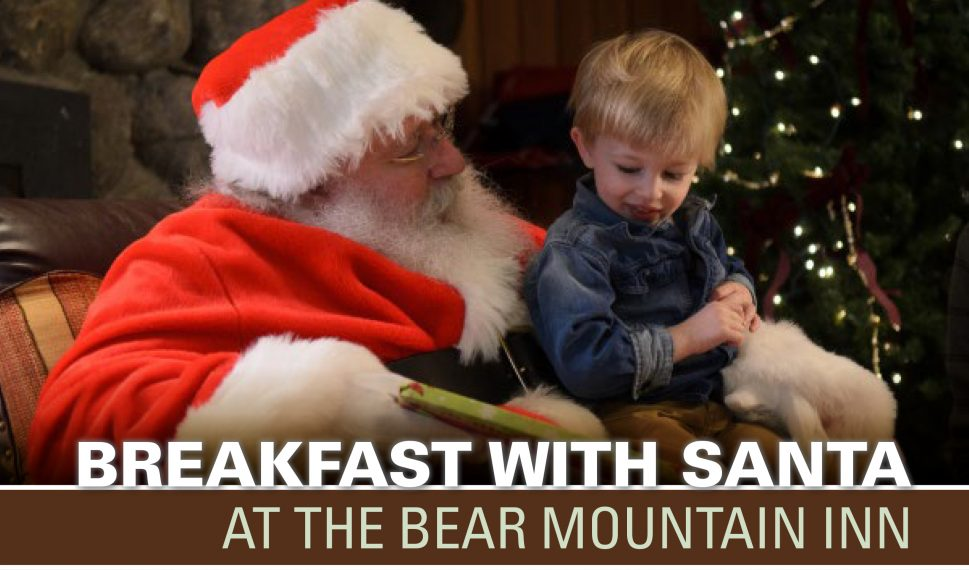 Breakfast with Santa at Bear Mountain Inn 2018 banner
