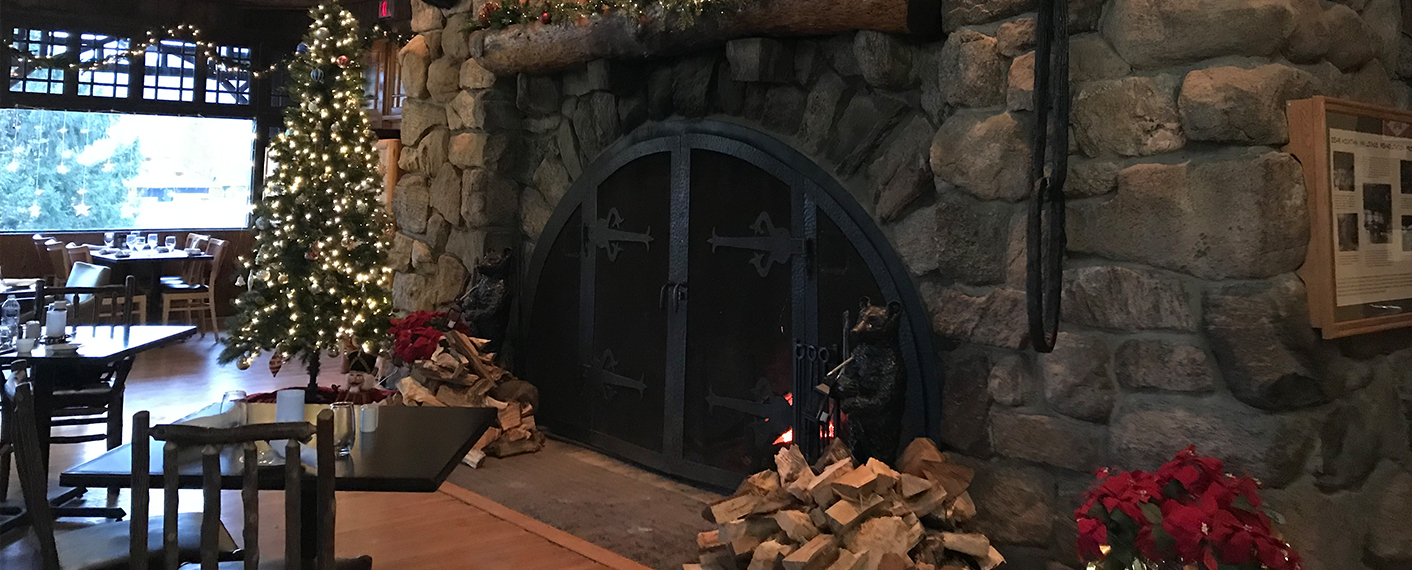 BMI Stone Fireplace