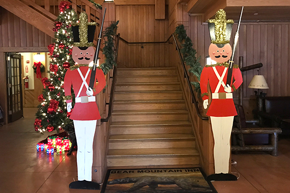 Staircase with nutcrackers standing guard